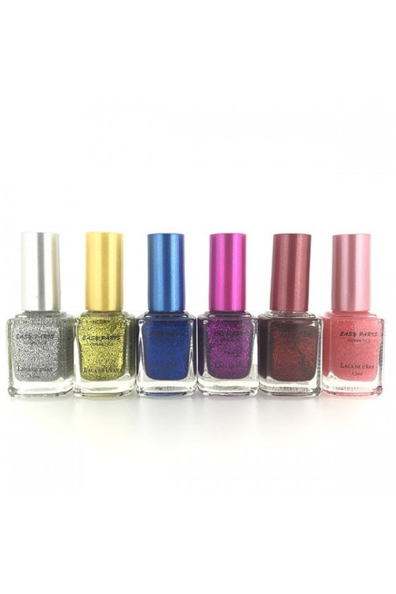 Lot de 6 vernis 1000 paillettes