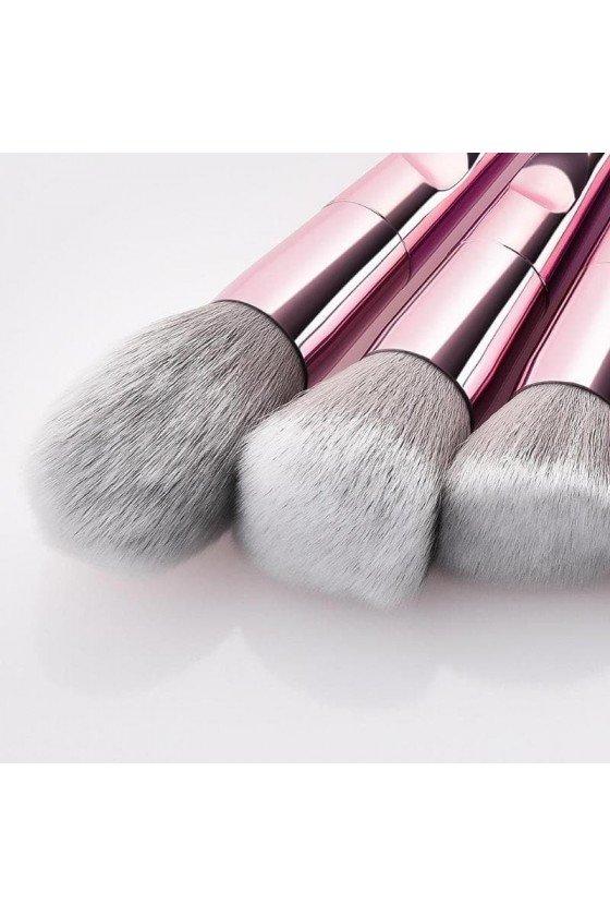 Kit Pinceau à Maquillage Rose Gold Métal