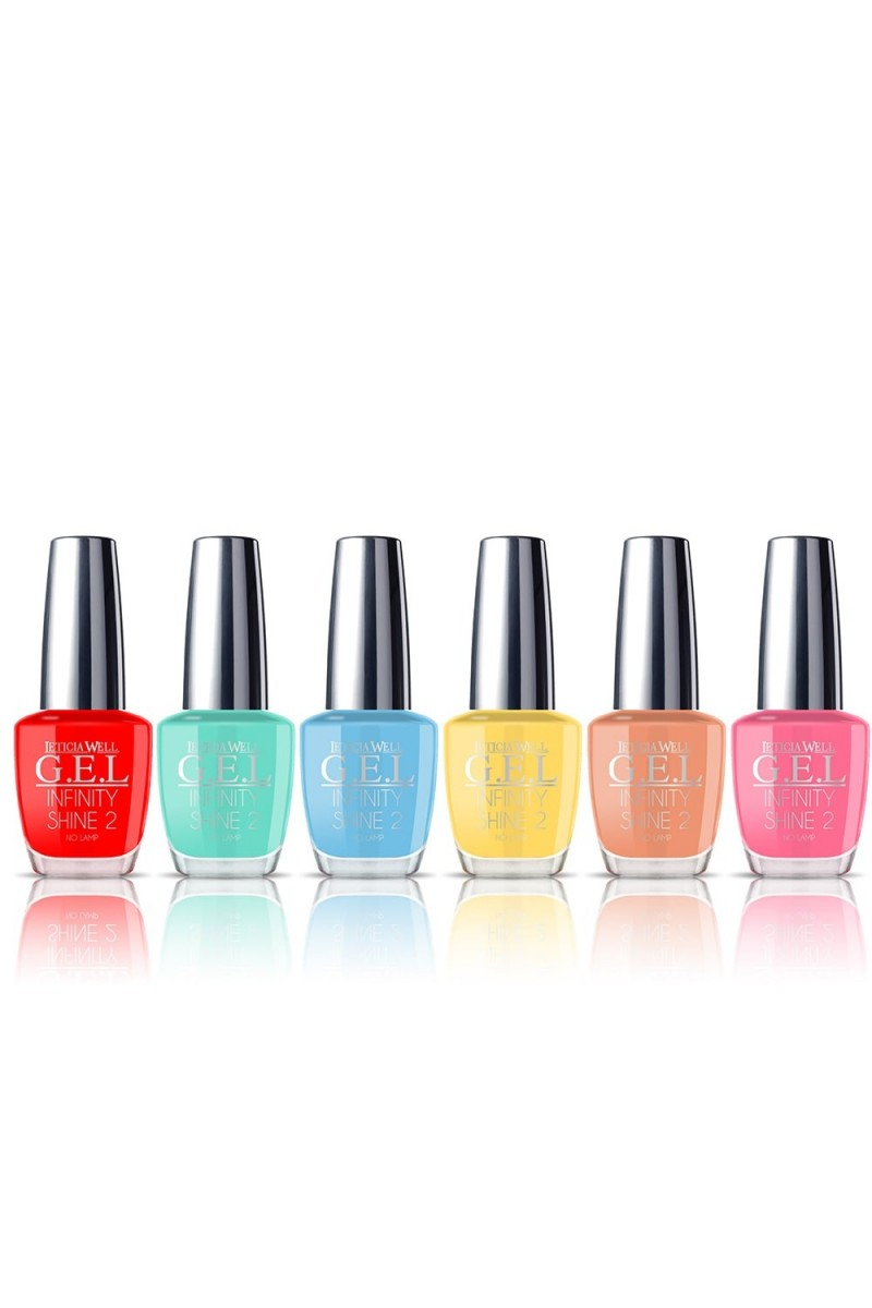 Lot de 6 vernis effet gel tropical