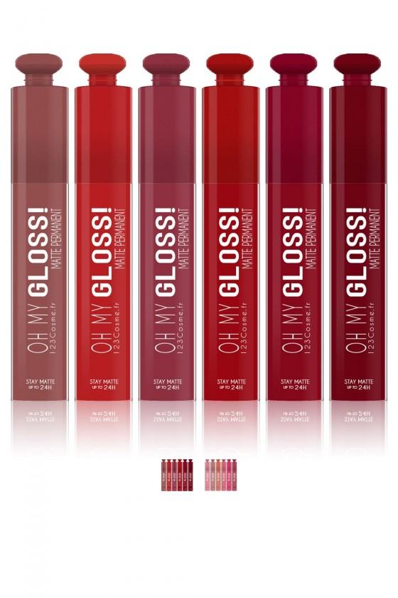 Lot de 6 Rouge à lèvres Oh My Gloss!